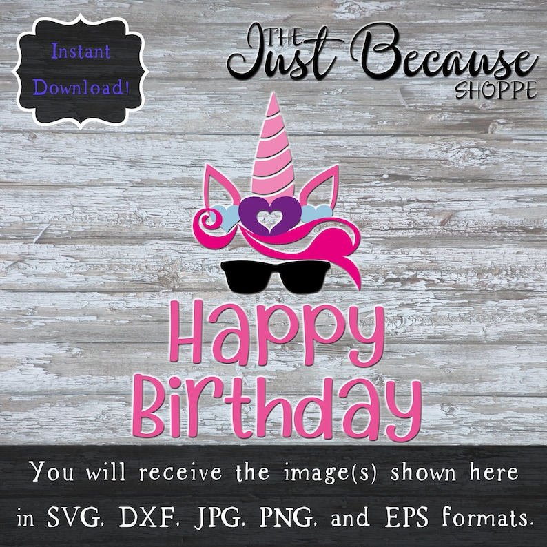 SVG Unicorn Birthday Happy Svg Party