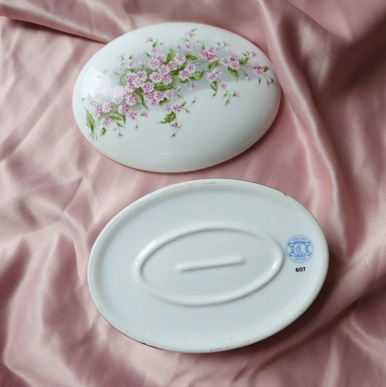 coffret vintage rangement art et collection porcelain vintage Bonbonni\u00e8re bo\u00eetes \u00e0 bijoux decor Limoges ENCARNA\u00c7\u00c3O porcelain