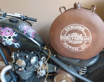 Harley Davidson Motorcycles Metal Petrol Jerry Oil Can Reproduction Garage Shed