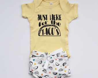46c2b5a8 Just Here for the Taco's Baby Outfit- Taco Toddler Set- Taco Shorties- Taco  Toddler Tee- Taco Baby Bodysuit- Summer Baby Outfit
