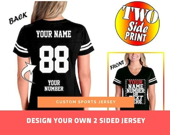 14e5a681f07 Customized Jersey for Women - Team Uniforms - Casual Outfit - Personalized  Jersey for baseball and football