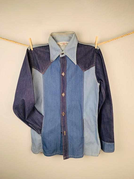 Men's 1970's Liberty Overseas Denim Shirt Jacket -