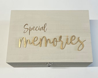 Special Memories - Memory Box - Laser Engraved Wooden Box - Gift / Present