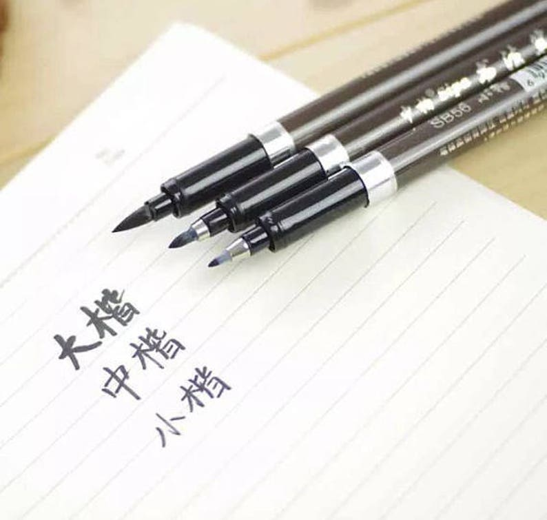 d4d744999154 Black calligraphy pens set of 3 drawing pens calligraphy   Etsy
