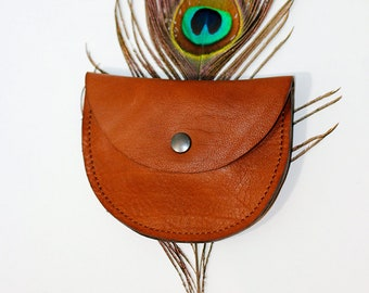 leather purse half moon