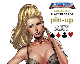 HARD COVER Patriotika Collected Playing Cards Pin Up Art