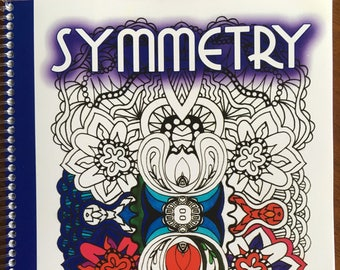 Symmetry adult coloring book