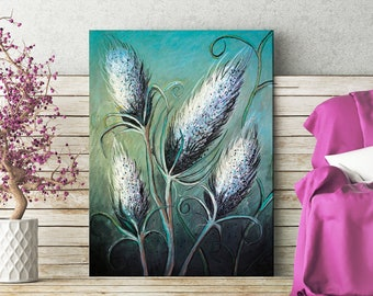 """Wall art, print, illustration. """"Thistle Tangle"""" by Jodie Clark.  A4 & A3"""