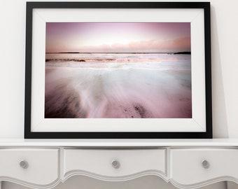 "Norfolk sunset, wall art, photography print.   ""Pink Mist"" By Jodie Clark.  A4 & A3"