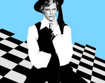 David Bowie (duc blanc mince)