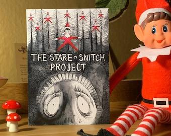Christmas card, cult horror card, Christmas elf card, Funny Card, Dark humour card
