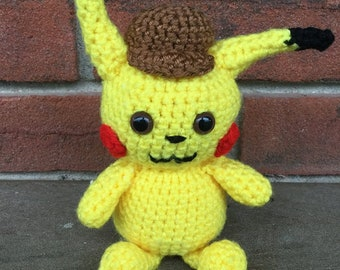 Detective Pikachu Crochet Pattern