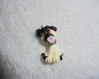 Creme colored dog bead