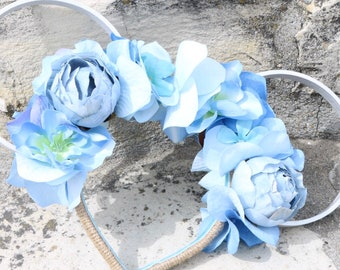 Princess Floral Twine Ears - Silver/Blue