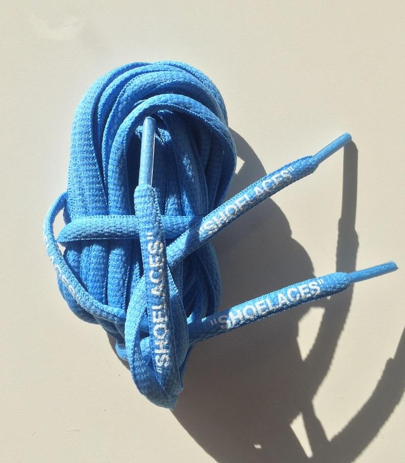 "new arrivals 886f0 b028d Nike x Off White Presto vapormax ""SHOELACES"" blue the ten shoes - Round  laces"