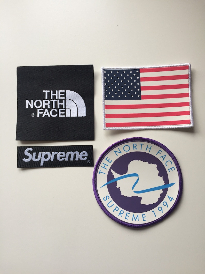 f004bb836e4f3 Supreme x The North Face Patch Set Jacket Fleece Backpack sew on/glue on TNF