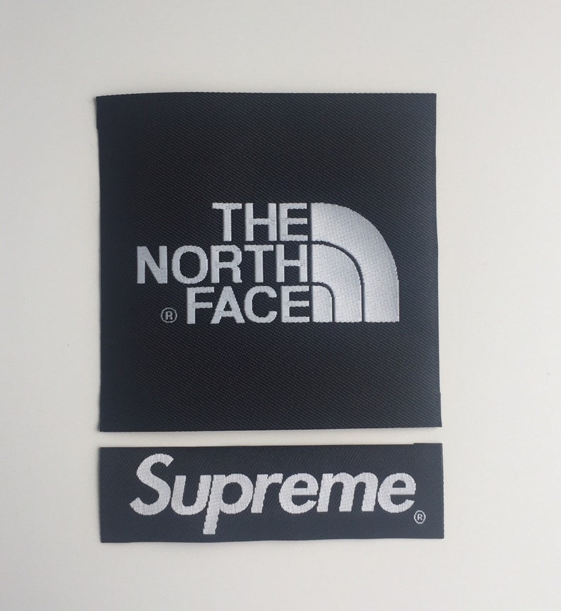 059a5940f902 The North Face X Supreme Patch TNF arm for jacket and backpack