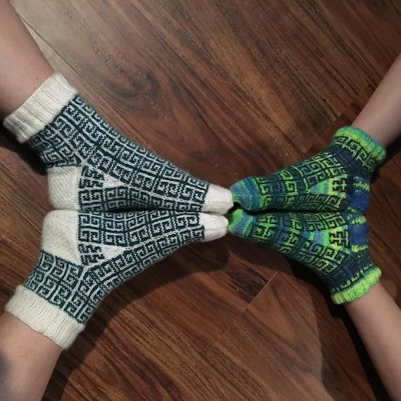Grecian Key Socks PDF knitting pattern   Etsy