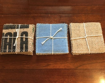 Coffee Sack Coasters