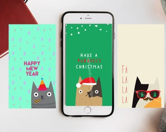 Cat Wallpaper Phone Etsy