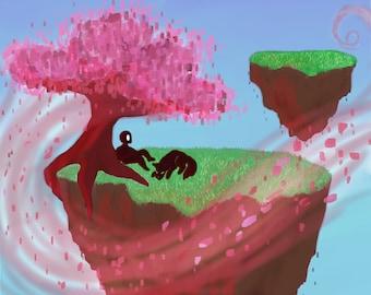 The Cherry Tree - Digital Painting