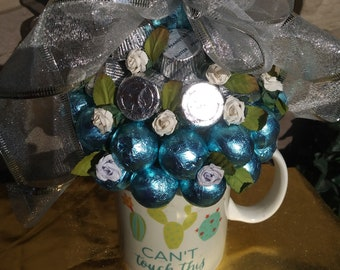 Chocolate Candy Blossom|Carmel Chocolate Candy Bouquet