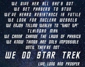 In This House We Do Star Trek - Parody - Wall Art Poster or Canvas - Geek Gift, Quote, Print, Sign, Fandom