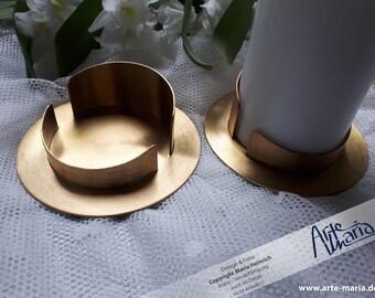Kerzenständer Gold für Ø7-8cm Kerzen für Taufkerze Kommunionkerze Hochzeitskerze