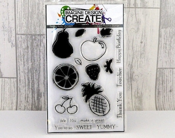 Feeling Fruity A6 clear photopolymer stamps