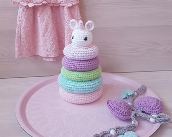 Ravelry: STACKING RINGS · EDUCATIONAL TOYS · Amigurumi pattern by ... | 270x340