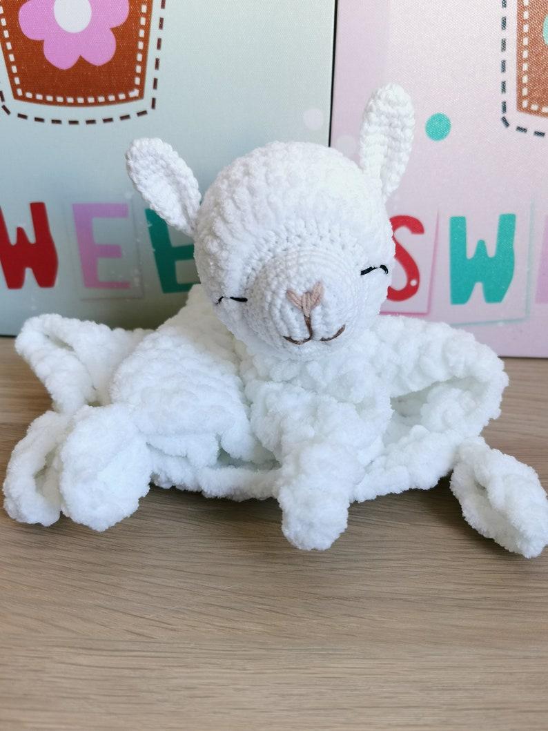 CROCHET PATTERN baby llama lovey crochet llama baby gift image 0