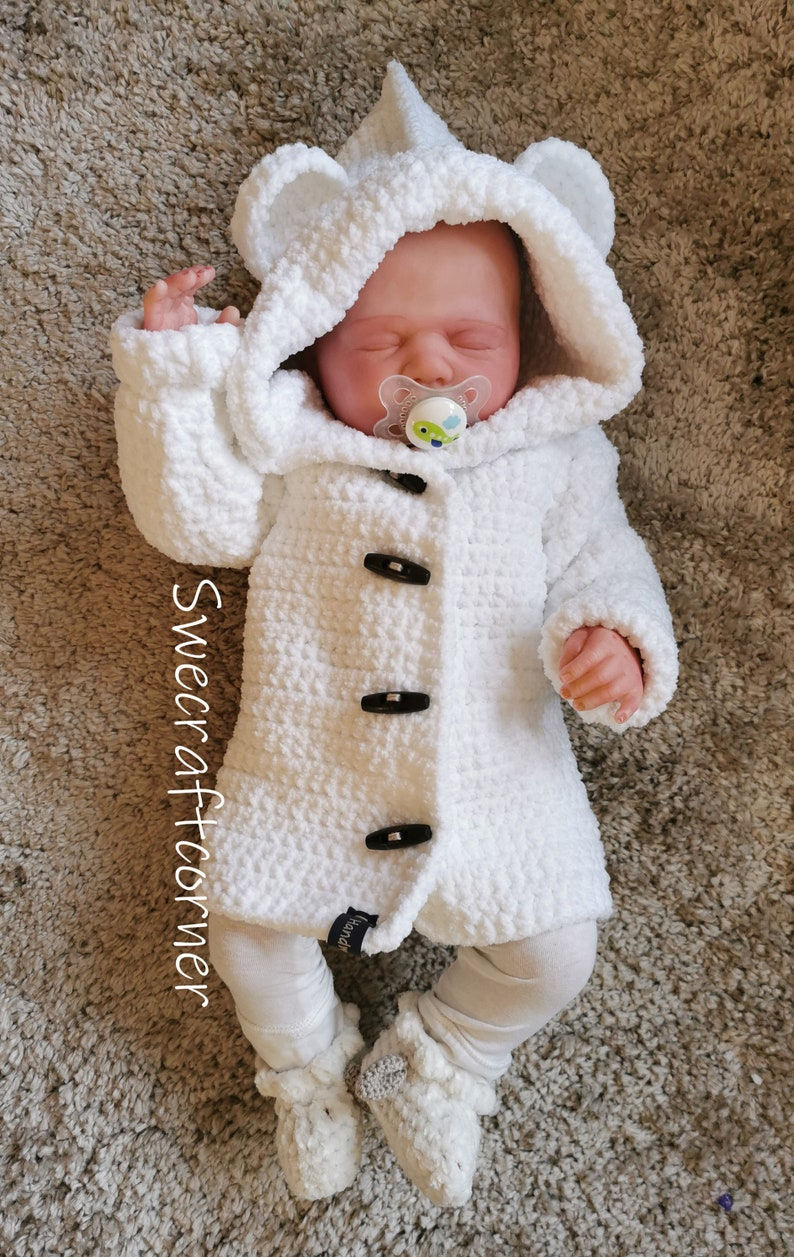 CROCHET PATTERN baby coat baby bear coat swecraftcorner image 1