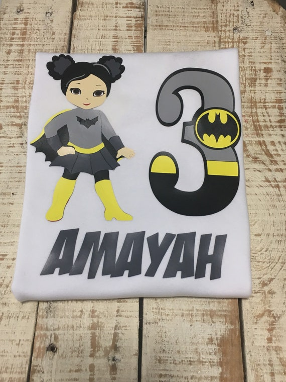 Batgirl Birthday Shirt Superhero Bat Girl