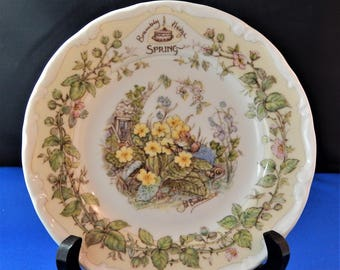 Brambly Hedge - Spring Afternoon Tea Plate, Royal Doulton, 1983