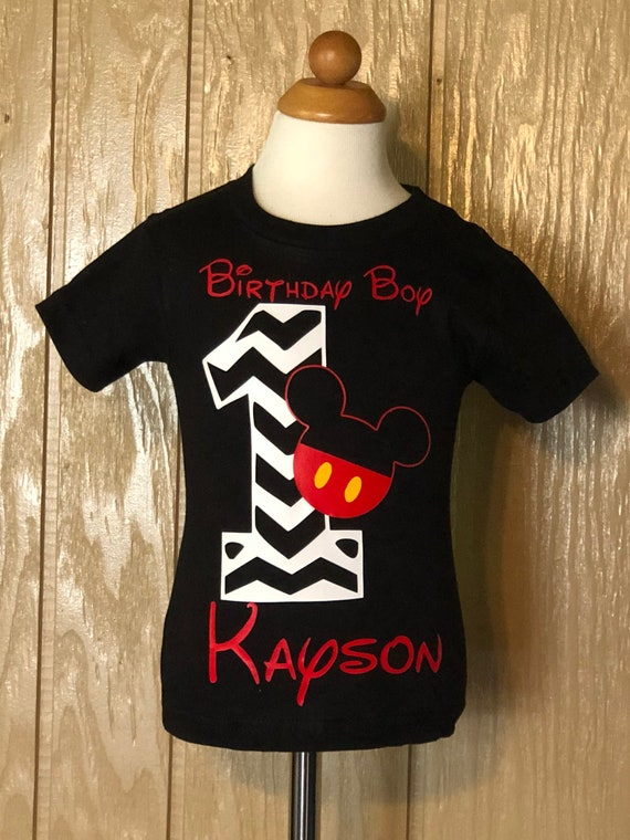 Mickey Mouse Birthday Shirt Personalized 1st