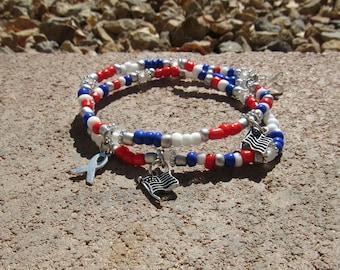 Red, White, + Blue Bracelet