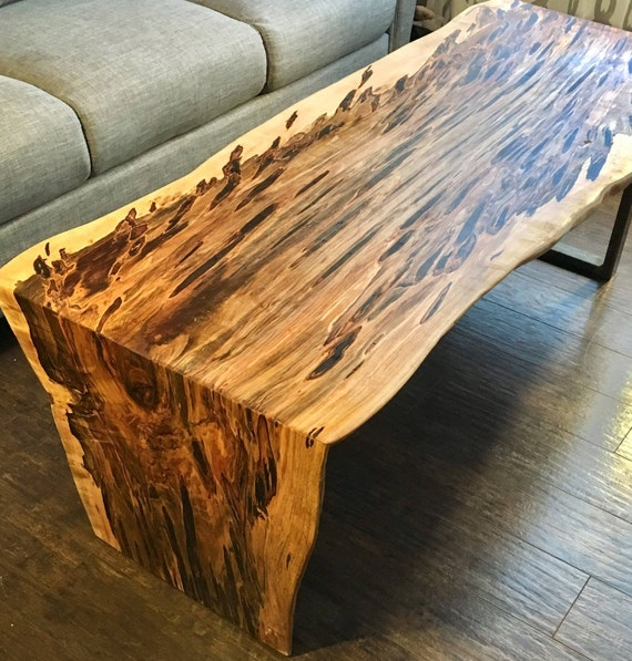 Swell Coffee Table Waterfall Table Natural Edge Maple Coffee Table Ambrosia Maple Bralicious Painted Fabric Chair Ideas Braliciousco