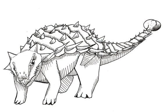 Ankylosurus Illustration PRINT Ank Dinosaur Jurassic Park Etsy