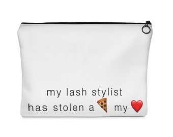 Lash Stylist - Carry All Pouch  (2 sizes) Make Up Bag - eyelash extensions, lashes, lash, fake lashes