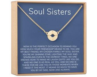 Friendship Necklace Birthday Gift for Friend Personalized Gift for Best Friend Birthday Best Friend Necklace Disc Best Friend Gifts