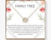 Family Tree Necklace Gift Tree of Life Necklace, Pendant, Charm, Jewelry for Mom, Daughter, Grandma, Aunt, Women, Family, Generations, Tree