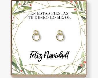 Aretes Regalo de Navidad y Reyes  Mejor Regalo 25410b974ee