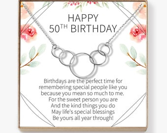 Gifts For Women Turning 50 Celebration Necklace