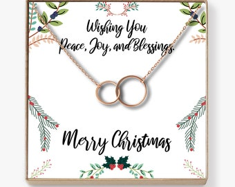 Christmas Gifts 2018: Xmas Gift, Holiday Gift, Gift Idea for Her, Women, Girls, Family, Friends, Wife, Daughter, Mom, Asymmetrical Circles