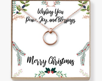Christmas Gifts 2018: Xmas Gift, Holiday Gift, Gift Idea for Her, Women, Girls, Family, Friends, Wife, Daughter, Mom, Linked Circles
