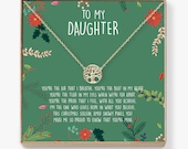 Christmas Gift for Daughter Present, Necklace, Jewelry, Xmas Gift, Holiday Gift, Gift Idea, Daughter Gift, Tree
