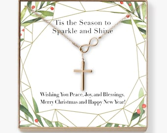 Christmas Gift Ideas: Xmas Gift, Holiday Gift, Gift Idea for Her, Women, Girls, Family, Friends, Wife, Daughter, Mom, Aunt, Infinity Cross