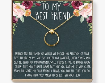 Christmas Gift For Best Friend Necklace Bff Necklace Best Etsy