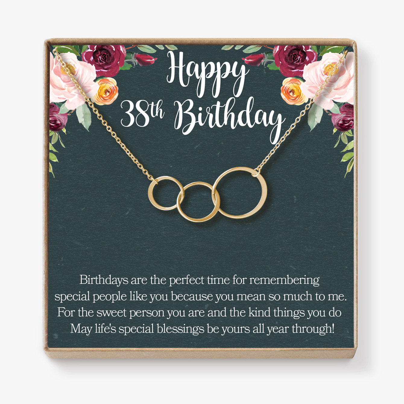 38th Birthday Gift Necklace Jewelry For