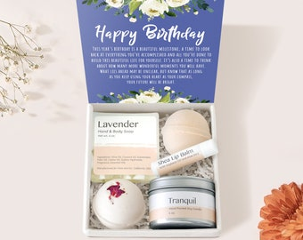 Birthday Gift Box Set: Happy Birthday, Birthday Gift, Gift for Her, Best Friend Gift with Optional Compass Necklace